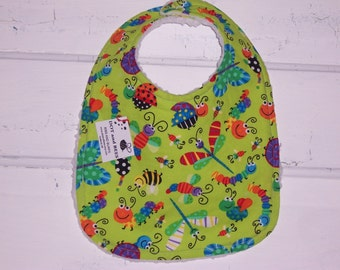 Cute as a Bug Baby Bib !!!!  FREE SHIPPING !!!!!