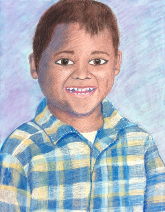 Custom Portrait- Original Pastel Drawing