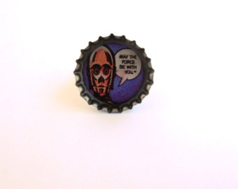 Star Wars Comic Bottle Cap Resin Ring Recycled Handmade Jewelry