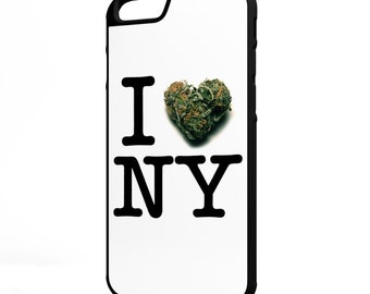 I Love New York Weed iPhone Galaxy Note LG HTC Hybrid Rubber Protective Case
