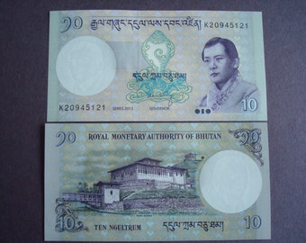 Banknote, Bhutan, 10 Ngultrum 2013, Uncirculated