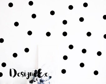 """Wall Stickers - 2"""" Dots - Set of 100"""