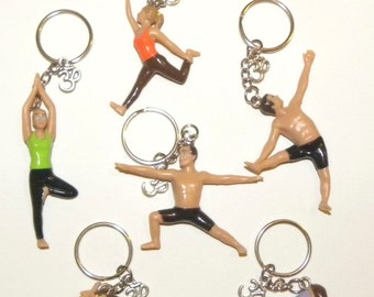 3D Yogis and Yoginis Key Chain with Ohm Symbol