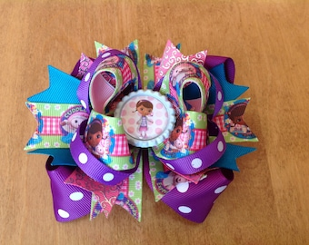 DoC Mcstuffins Stacked Hair Bow, Boutique Hair Bow