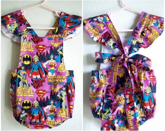 Superhero DC Comics Little Girl's Romper