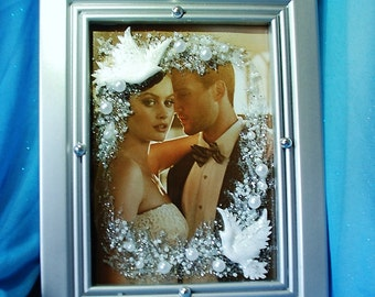 Wedding Photo Frame, Gift for bride and Groom, Wedding gift for parents, Custom wedding frame