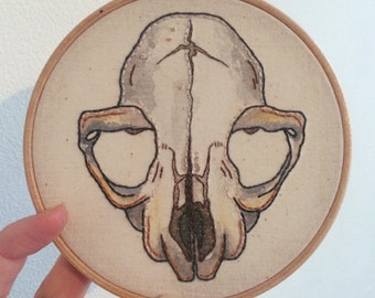 Rodent Skull Embroidery