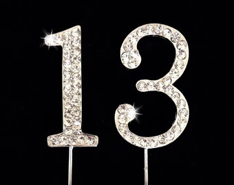 13th Birthday Cake Topper - 1.75 Inches Tall - Cake Decoration