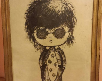 Love and Peace Moppets John Lennon lookalike prints