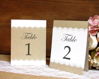 Rustic table numbers - Table numbers wedding - Rustic wedding table numbers - Wedding table numbers - Reception table numbers