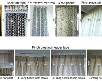 Add-Ons Listing - Add Matching Pillow Cover, Valance Cafe Curtain To Curtain Order Or Add Grommets, Header Tapes, Tabs, Pleats or Trims