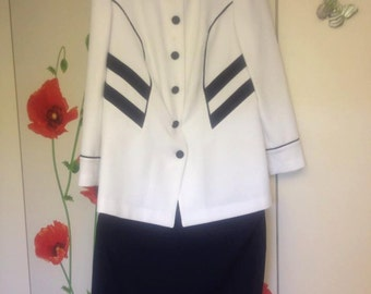 Jacket and skirt suit