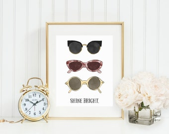 Shine Bright Inspirational Print