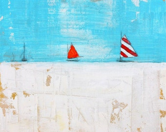 Boats on Blue