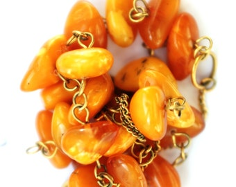 25.9 g. ANTIQUE Baltic Amber Necklace Beads q 琥珀项链قلادة العنبر