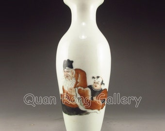 N2825 Hand-painted Chinese Mo Cai Porcelain Vase