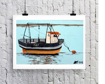 Fishing boat, art print/Greeting card