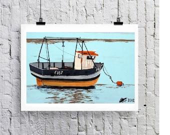 Fishing boat, art print/Greeting card