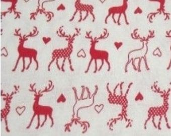 Christmas Reindeer Cotton Fabric