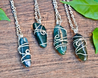 Avventurite or green Agate necklace