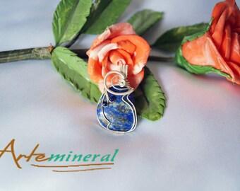 Lapislazuli silver pendant 925