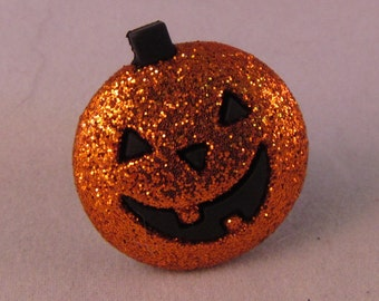 Jack 'O Lantern Pumpkin Lapel Pin Brooch - Everyday / Wedding / Prom