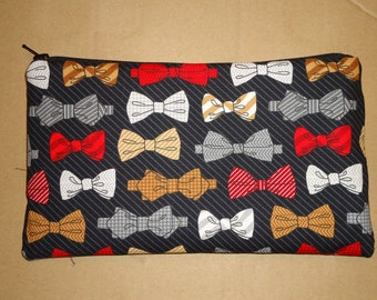 Doctor Who Bowties are Cool Fabric Pencil Pouch Clutch Purse