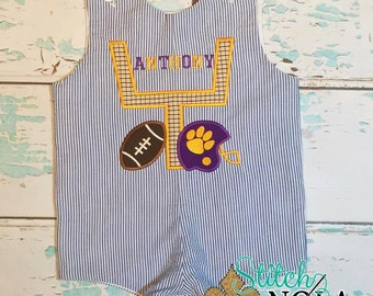 Purple and Gold Goal Post Shortall