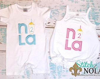 NOLA Snowball Birthday Shirt, Gown or Bodysuit-Boy or Girl