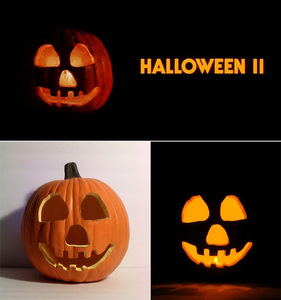 Items similar to HALLOWEEN II 1981 Jack,O,Lantern Prop (Hand,Carved Foam Pumpkin 12\u0026quot;) on Etsy