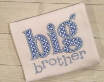 Personalized Big Brother/Sister appliqué bodysuit/shirt