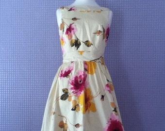 Vintage floral 1950's inspired dress