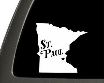 St. Paul Minnesota Sticker For Car Window, Bumper, Or Laptop