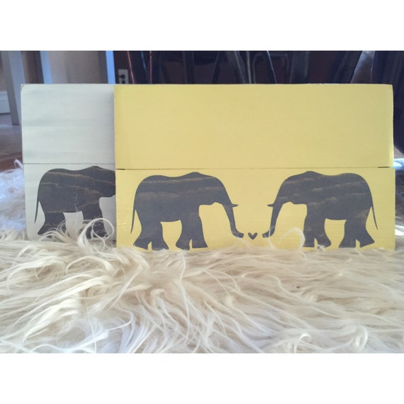 Elephant Sign Love Wood Signs Rustic Home Decor Nursery