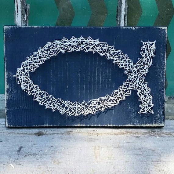 String art fish nail art christian fish naileditdesign for Fish string art