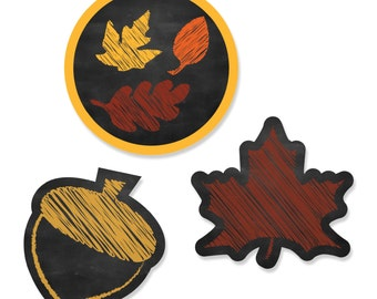 24 pc. Fall Leaves Shaped Paper Cut Outs - Fall Leaves Party Decoration Kit
