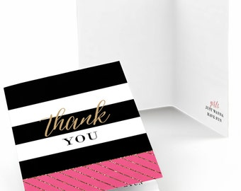 Girls Night Out - Set of 8 Party Thank You Cards