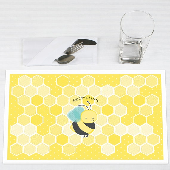 Set Of 12 Honey Bee Placemats