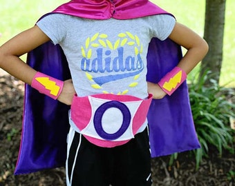 Superhero GET WELL GIFT - Superhero Cape and Accessories - Super Hero Costume - Custom Halloween Costume - Cape Costume - Ships Quickly