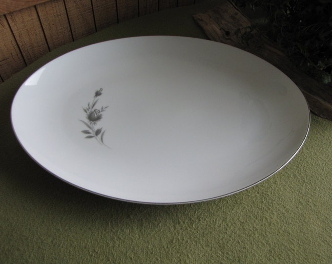 Maltese Rose Dinner Platter By Wyndham Fine China Vintage Dinnerware and Replacements