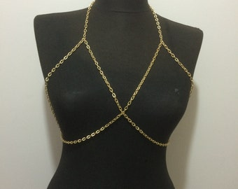 gold body chain,Body Chain,Necklace, *mk94