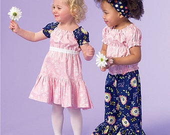 McCall's Sewing Pattern M7178 Toddlers'/Children's Gathered Top, Dress and Pants