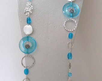 Costume jewelry turquoise necklace turquoise and silver necklace handmade Rings