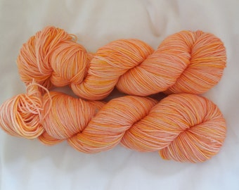 Hand Dyed Superwash Merino Peachy Sock Yarn