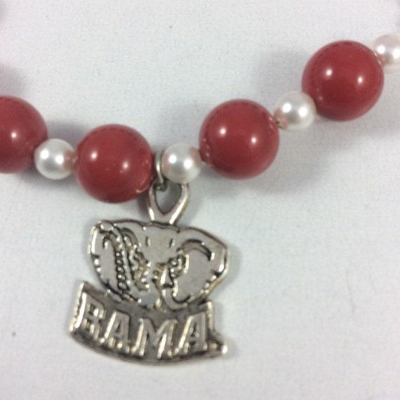 Alabama Charm Bracelet: Alabama CRIMSON TIDE Bracelet University By