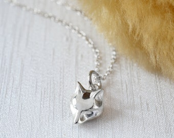 Sterling Silver Fox Charm Necklace. To personalise add a letter charm and message to the presentation card.