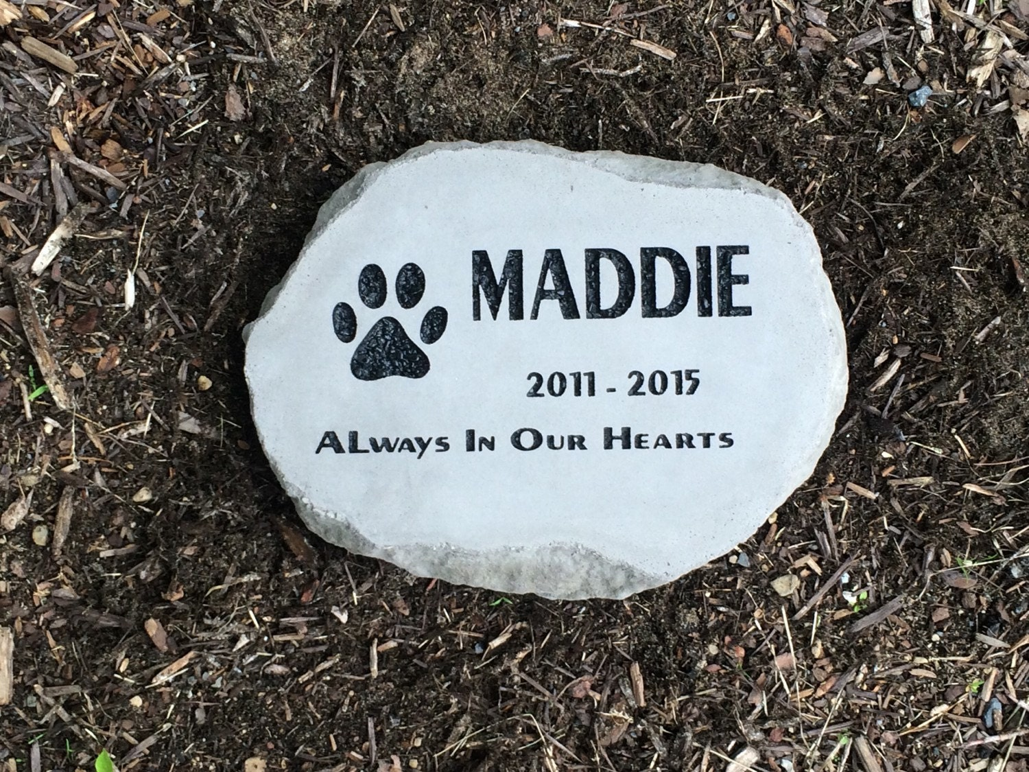 personalized pet memorial garden stone thick heavy duty stone