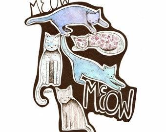 Meow: 8.5x11 Print