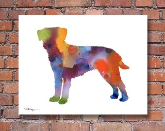 Border Terrier Art Print - Abstract Watercolor Painting - Wall Decor