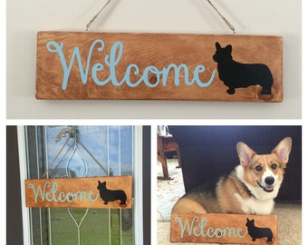 Welcome Dog Sign